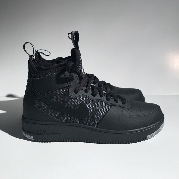 NIKE AIR FORCE 1 ULTRAFORCE MID SZ 9.5 BLACK WOLF.  M 5aef6929a6e3eac852906b19. Other Shoes ... c5aaafe77